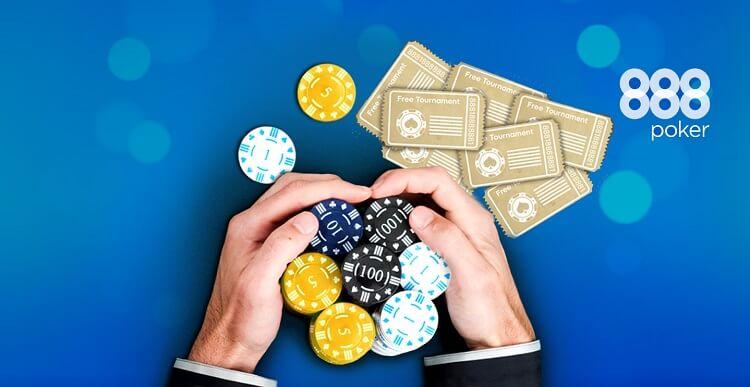 888 Покер бездепозитный бонус