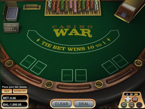 Casino war winning strategy casino niagara job fair
