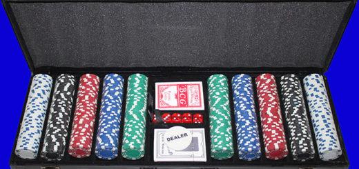Набор фишек для игры в покер