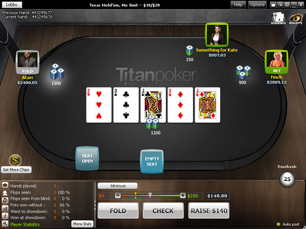 Лобби Титан Покер